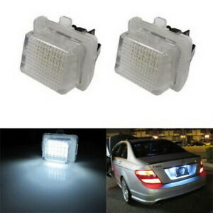 White Error Free Led License Plate Lights For Mercedes Pre Lci W204 W212 W221