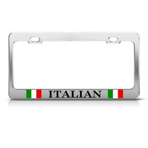 Italy Italian Italiano Metal License Plate Frame Tag Holder