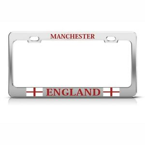 Manchester England Uk Metal License Plate Frame Tag Holder