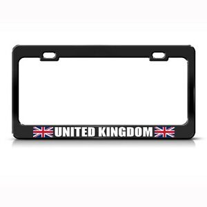 United Kingdom Uk England Black License Plate Frame Tag Holder