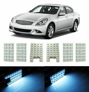 White 6 pc Lights Exact Fit Led Interior Package For Infiniti G35 G37 Q60 Sedan