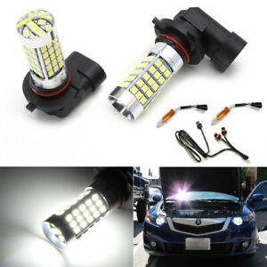 Hid white 9005 Led High Beam Daytime Running Light Kit For Acura Honda