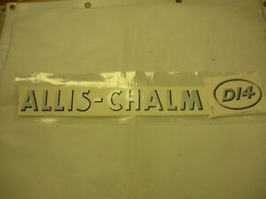 Allis Chalmers D14 Decal Set With Oval Model Letters