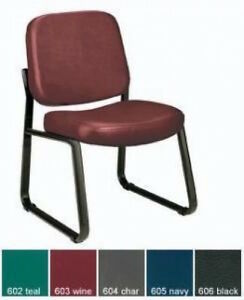 Ofm 405 vam Sturdy Antibacterial Armless Guest Reception Conference Vinyl Chair