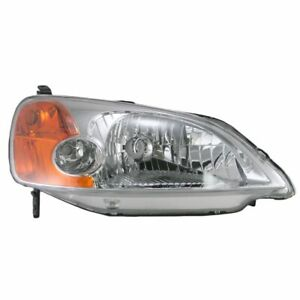 Headlight Headlamp Passenger Side Right Rh For 01 03 Honda Civic 4 Door Sedan