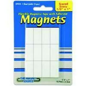 New Master Magnetic 7010 Pack Pre Cut Adhesive Magnets