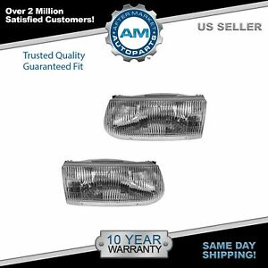 Headlights Headlamps Left Right Pair Set For 95 01 Ford Explorer Mountaineer