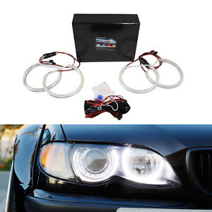 Xenon White Headlight Smd Led Angel Eyes Halo Rings For Bmw E39 E46 3 5 Series