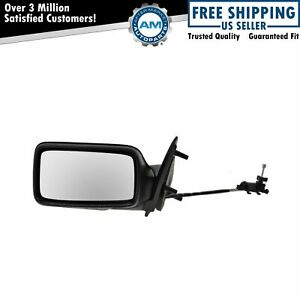 Manual Remote Door Mirror Lh Left Driver Side For Volkswagen Golf Gti Jetta Vw