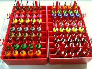 100 Micro Drill Set 0 3mm 1 3mm Pcb Cnc Press Dremel Router Bits New 1 8 Shank