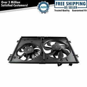 Dual Radiator Cooling Fans Motors New For Audi Vw