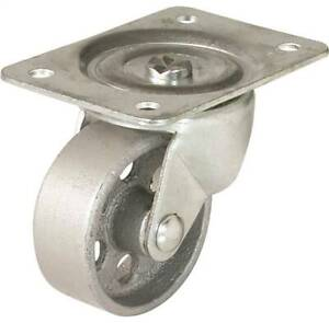 New 008 5332 Lot Of 4 4 Steel Swivel Casters Plate Mounted 500lb Sale