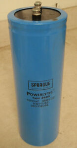 Sprague Powerlytic Capacitor 36dx 12014 __ 36dx12014 _ 6000 Uf