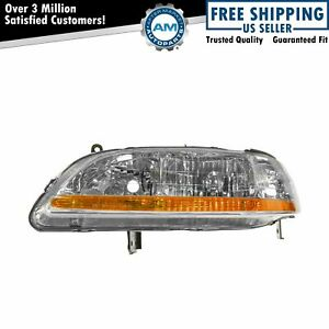 Headlight Headlamp Driver Side Left Lh New For 01 02 Honda Accord