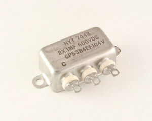 New 1 Pcs Nyt 2uf 600vdc Hermetically Sealed Oil Capacitor 600 V 600v
