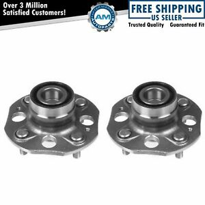 Rear Wheel Hubs Bearings Pair Set Of 2 New For 90 97 Honda Accord 4 Lug