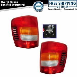 Taillights Taillamps Brake Lights Left Right Pair Set For 99 03 Grand Cherokee