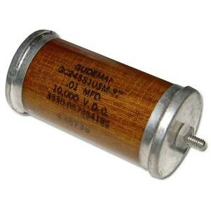 New Gudeman 01uf 10 000v High Voltage Oil Capacitor 0 01mfd 10000v 01mfd 10kv