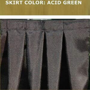 14 Foot Acid Green Box Pleat Table Skirt Free Velcro Skirting Clips