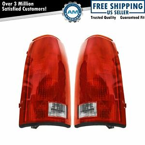 Taillights Brake Lights W Circuit Boards Lh Rh Pair Set For Chevy Gmc Cadillac