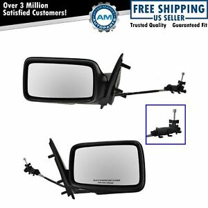 Manual Remote Side View Mirrors Left right Pair Set For 93 99 Vw Jetta Gti Golf