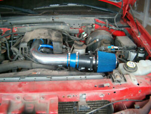 Bcp Blue 97 03 Ford F150 expedition 4 6 5 4l V8 Air Intake Racing System filter