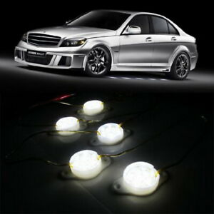 White 95 Brabus Style 45 Led Lights Under Car Puddle Lighting Ground Effect Kit