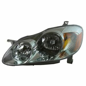 Headlight Headlamp Driver Side Left Lh New For 03 04 Toyota Corolla S