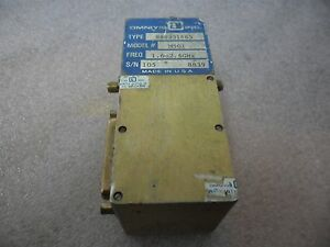 Omniyig Microwave Rf Yig Filter 1 6 2 6 Ghz M501 D to a Converter