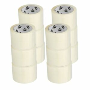 Carton Sealing Packing Tape 3 X 110 Yards 330 Ft 2 5 Mil Clear 12 Rolls