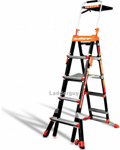 Little Giant Fiberglass Select Step Ladder 375lb Rated 5 8 W airdeck 15130
