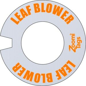 Zoomitags Leaf Blower Id Tag Gasoline Can Fuel Gas Container Zoomitag Labels