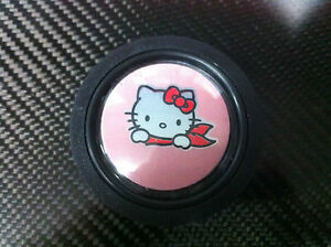 Hello Kitty Pink Horn Button Steering Wheel Jdm Momo Nardi Personal Racing