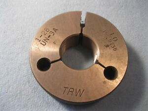 1 28 Un 3a Thread Ring Gage 1 00 No Go Only P d 9738 Inspection Tooling