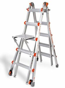 M22 Type 1a Little Giant Ladder Classic W Platform Wheels