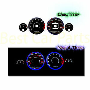 Black 94 01 Acura Integra Rs Gs Ls Mt Indiglo Glow Blue White El Reverse Gauges