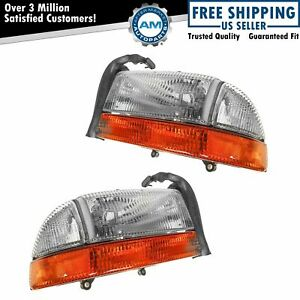 Headlights Headlamps W Signal Left Right Pair Set For Durango Dakota Truck
