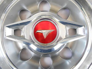 Vintage Hubcap Buick Skylark Original Oem Spinner Red Center Bird 14