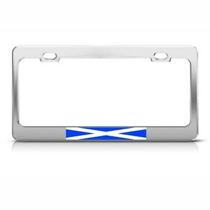 Scotland Scottish Flag Country License Plate Frame Stainless Metal Tag Holder