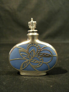 U S Zone Germany Porcelain Glass Scent Bottle With Sterling Silver Overlay