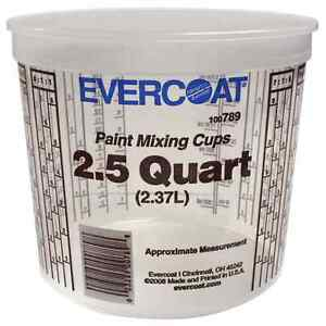 Evercoat Paint Mixing Cups 50 Cups 2 5 Quarts 789