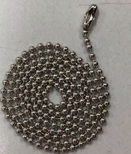 300 Ball Chains Nickel 4 5 Inch 3 Dog Tag Bead Chain Made In Usa