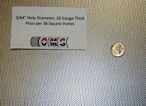 Perforated Steel 3 64 Inch Hole 20 Gauge Price Per 36 Square Inches Screen Sieve