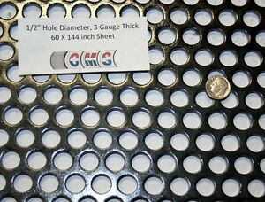 Perforated Steel Sheet 1 2 Inch Hole 3 Gauge 60 X 144 Inch 48 Open Area