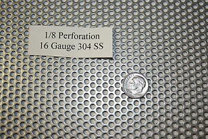 Perforated 304 Stainless Steel 1 8 Inch Hole 16 Gauge Price Per 5 Square Inch
