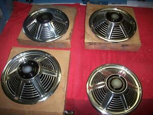 1964 1965 Ford Mustang Nos 13 Wheel Cover Hub Caps In Original Boxes Set