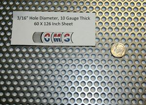 Perforated Mild Steel 3 16 Inch Hole 10 Gauge 60 X 126 Inch 38 Open Area