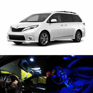 12 X Led Full Interior Lights Package Deal For 2011 And Up Toyota Sienna Limited