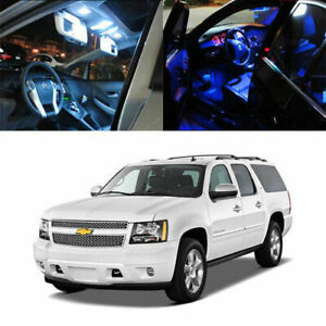 6 X 5050 Smd Full Led Interior Lights Package For 2007 up Chevy Suburban Tahoe