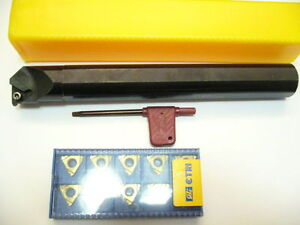 10x 16ir Iso 1 5 Internal Threading Inserts With Tool Holder Set